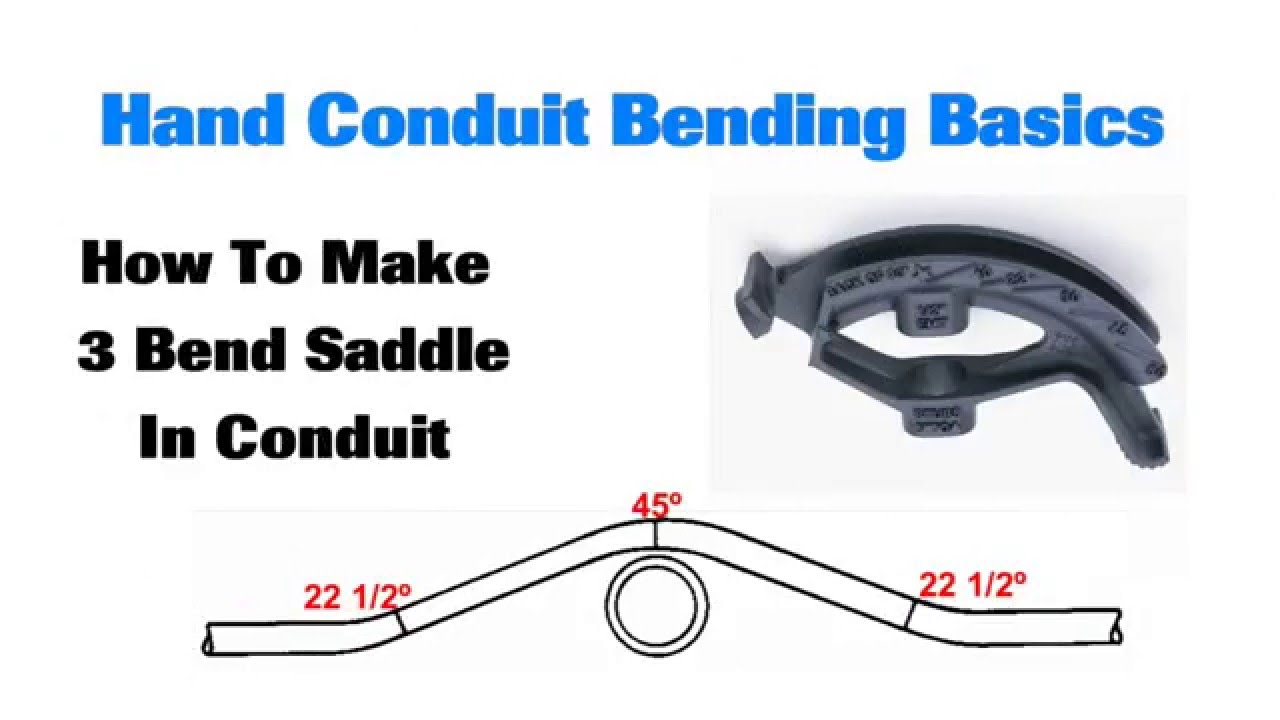 conduit bending basics 3 bend saddle youtube rh youtube com new ideal conduit bending guide Ideal Conduit Theard Lube
