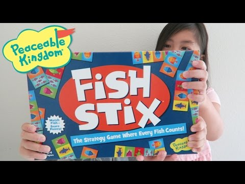 Fish Stix Board Game By Peaceable Kingdom Unboxing And Demonstration