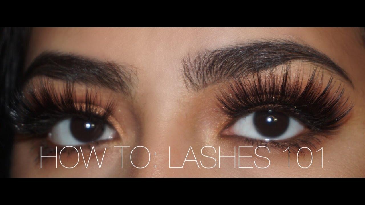 Lashes 101 How To Put On Lashes Talk Through Khadijah Alsagoff