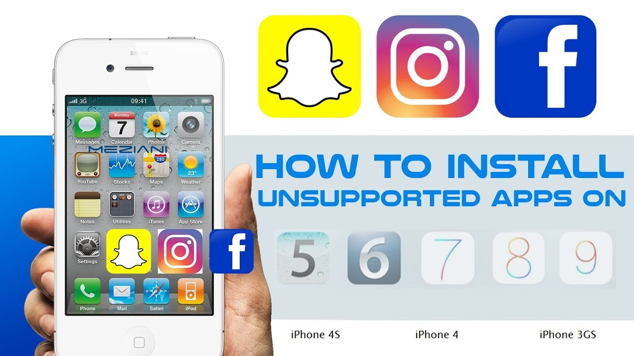 How To Install Unsupported Apps On Ios 9 X X Ios 7 X X Ios 6 X X And Ios 5 X X Iphone Ipad Youtube