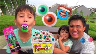 vuclip Nyobain Permen Lollipop Unik dan Lucu dari Halloween Trick or Treat - Keren Banget Guys!