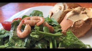 Готовим салат с креветками #ПервыйКулинарный #Салат #Креветки #Рецепт #Salad
