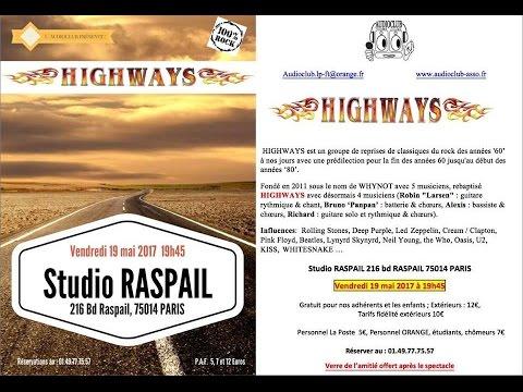 HIGHWAYS  STUDIO RASPAIL  MONTPARNASSE  MAI 2017