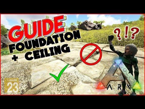 ARK: Foundation + Celling TIPPS und TRICKS 💡 [INFO/Guide/Deutsch] Boden richtig bauen!