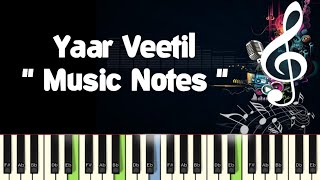 Yaar Veetil Roja (udaya geetham) /Piano Notes /Midi File /Karaoke