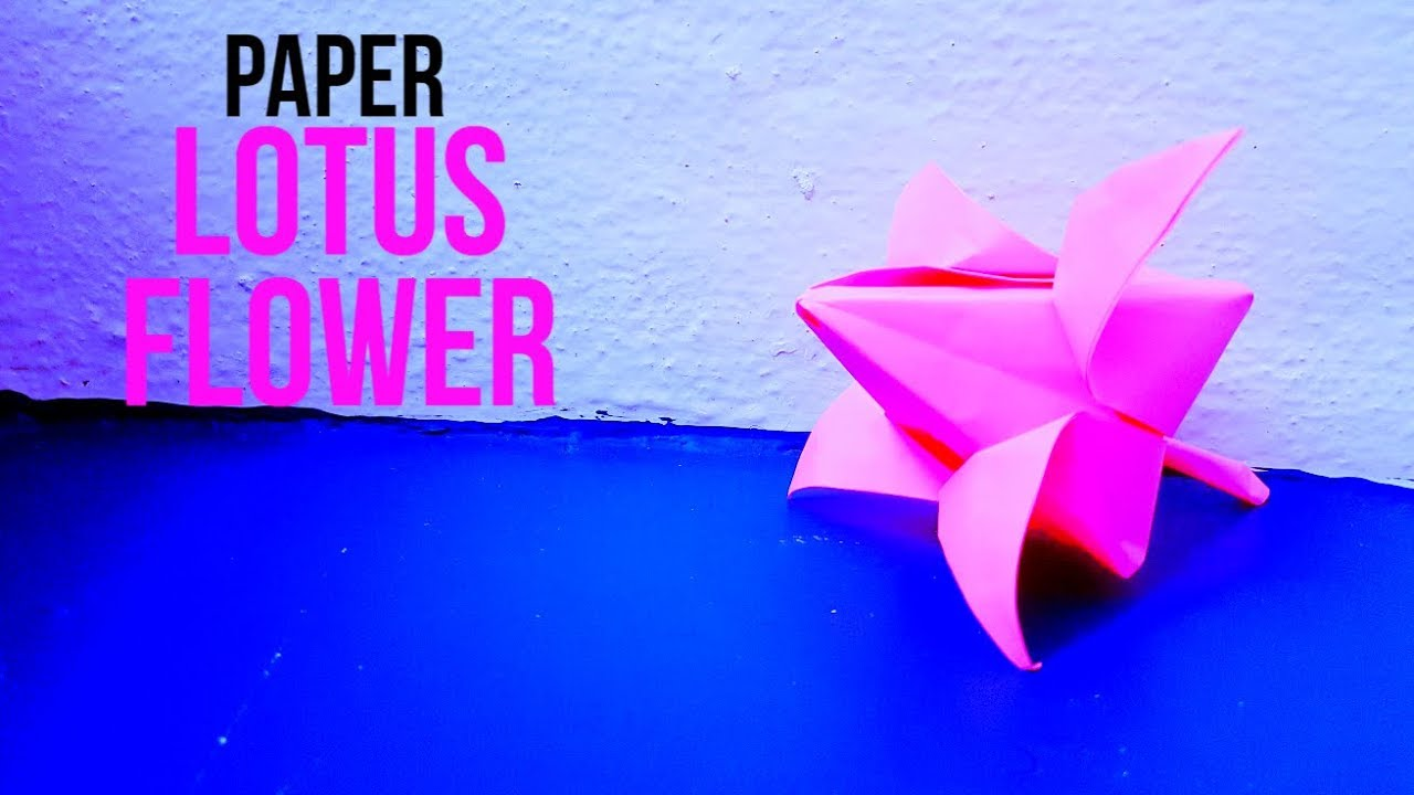 how to make an origami lotus flower with one sheet of