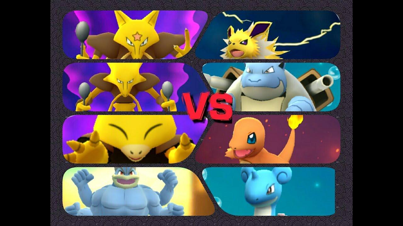 pokémon go gym battles 4 gyms abra kadabra alakazam charmander