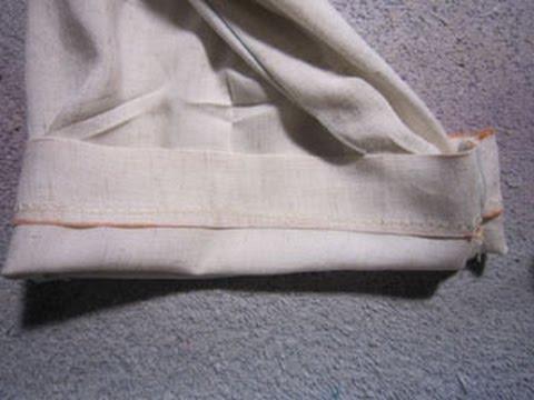 couture coudre un ourlet invisible pour vos rideaux et vos ourlets de pantalons