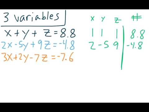 Matrix 14 - Solving Larger Systems of Equations with Matrices