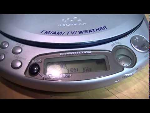 2003 Sony CD/MP3/ATRAC3+/AM/FM/TV/WB Walkman