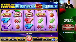 Wheel of Fortune Ultra 5 Reels LIVE slots with BONUS [Online Gambling with Jersey Joe # 80]