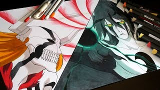 Drawing Ichigo VS Ulquiorra From BLEACH