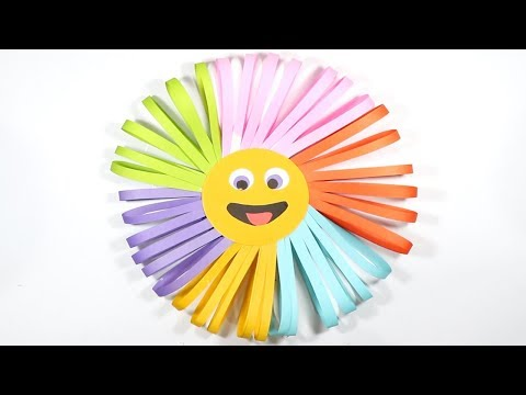 DIY : Paper Sun || How to make paper Sun for kids || Step by Step....!