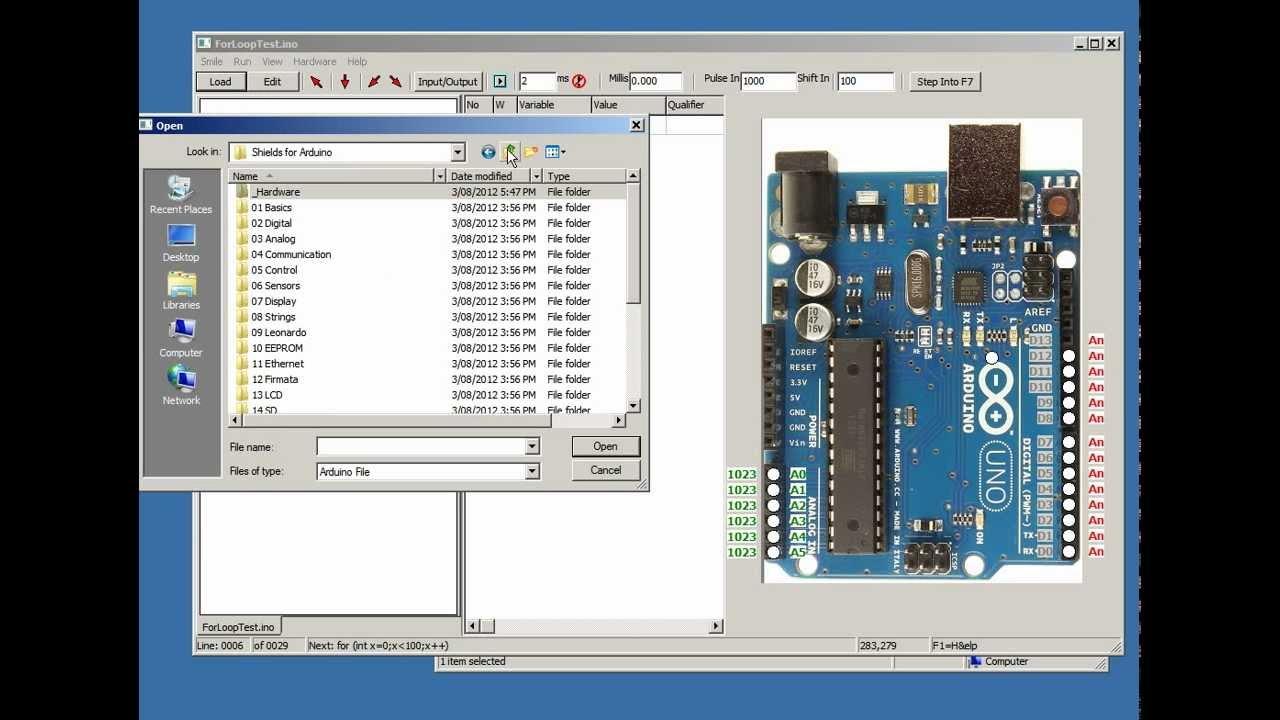 Simulator for arduino v languages new boards find
