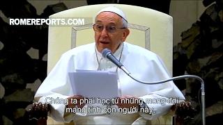 Đức Giáo Hoàng: Các con phải học để có đức cậy trong cuộc sống