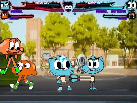 Mugen Request Real Gumball and Darwin vs Bootleg Gumball and Darwin