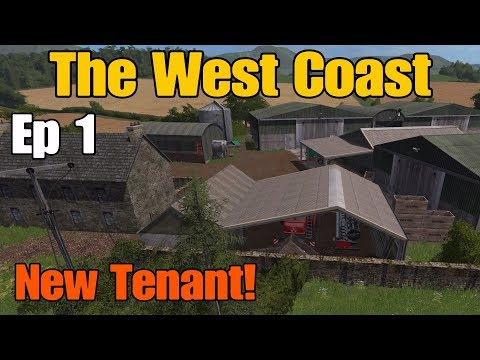 Let's Play Farming Simulator 17 PS4: The West Coast, Ep 1 (New Tenant!)