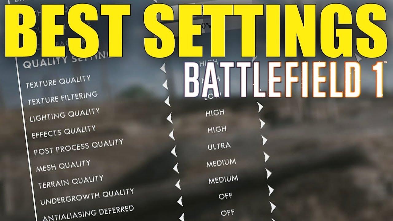 Battlefield 1: Best 5v5 Settings PS4/XBOX (Sensitivity, No Recoil, FoV) etc