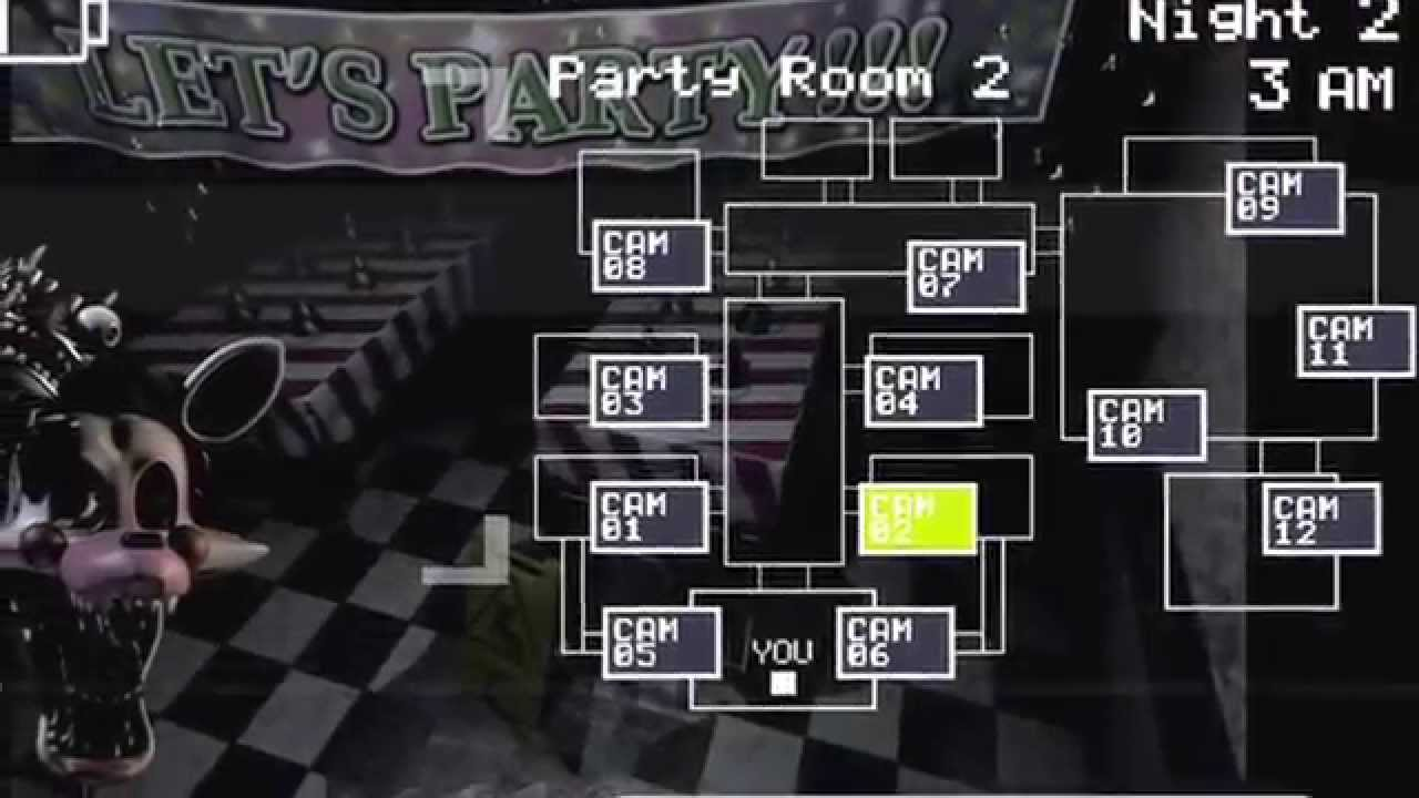 litwick plays five nights at freddy 39 s 2 night 2 mangle chillin in cam 2 youtube. Black Bedroom Furniture Sets. Home Design Ideas