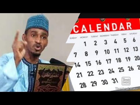 Download Ashe calendar duka shirme ce kuma sunayen watannin Na gumaka ne Don haka mu kiyaye