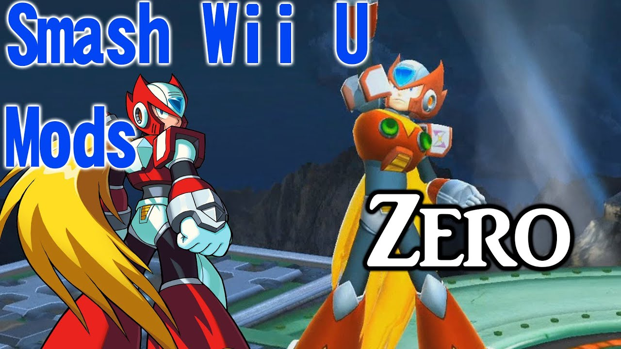 Smash wii u mods showcase zero from mega man youtube for Wii u portable mod