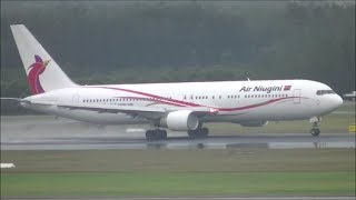 Air Niugini 767-300ER Wet Runway Takeoff From Brisbane