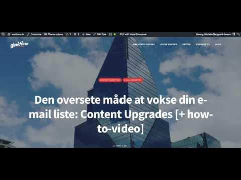 Sådan opsætter du din Content Upgrade rent teknisk