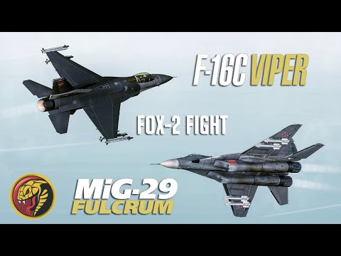 DCS: F-16C Viper Vs Mig-29 Fulcrum Fox-2 Dogfight