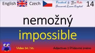 34 Adjectives 2 Přídavná jména Česko Anglická Slova Czech - English Words Angličtina pro začátečníky