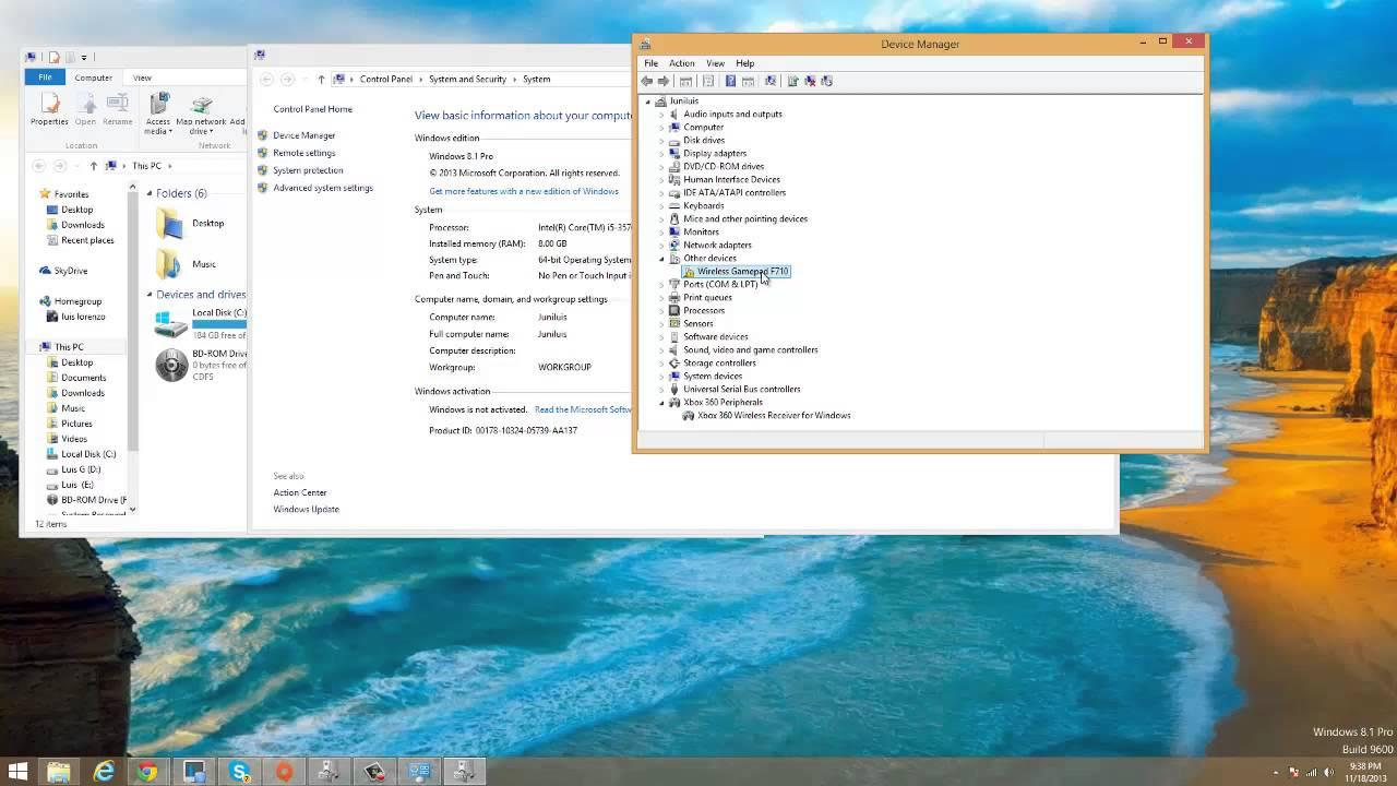 Драйвер для джойстика logitech wireless gamepad f710