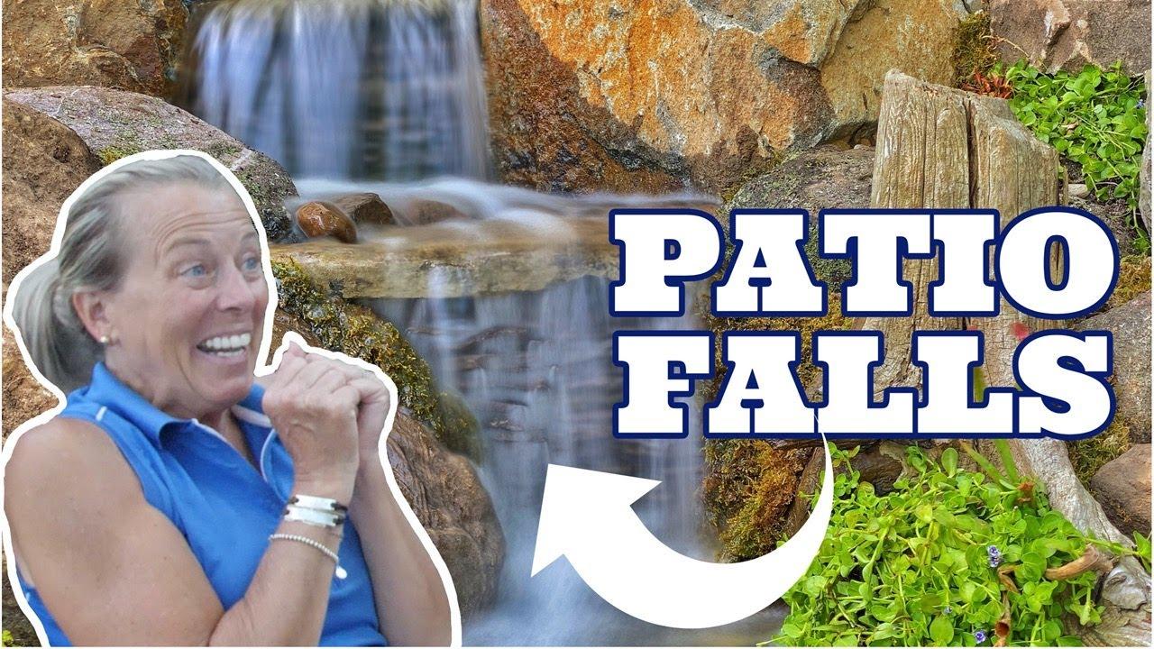 PATIO WATERFALL behind RETAINING WALL | Fountain