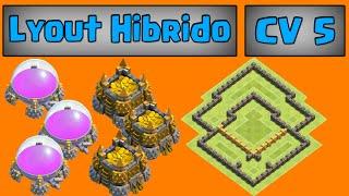 Layout Hibrido para cv 5 - Clash of Clans