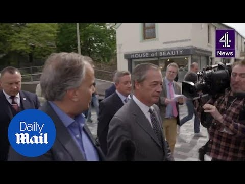 Channel 4 News questions Nigel Farage over his funding