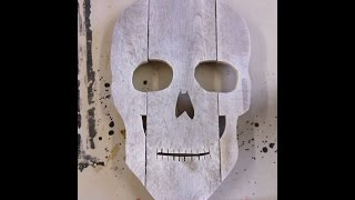 How to Make a Skull Head for Halloween Decoration out of old Pallets
