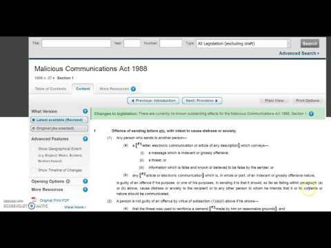 Malicious Communications Act 1988