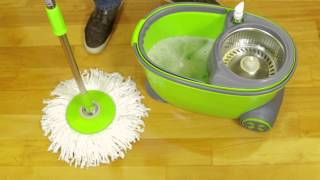 Spin Mop Tutorial And Review For Magic 360 Spin Easy Mop With Wheels
