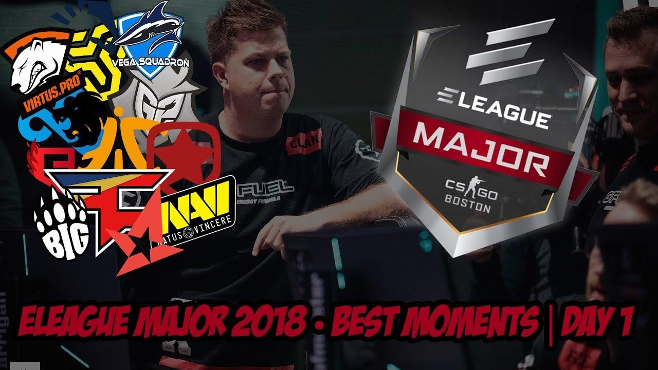 CS:GO ELEAGUE Major 2018 En İyi Hareketler 1. Gün Videosu