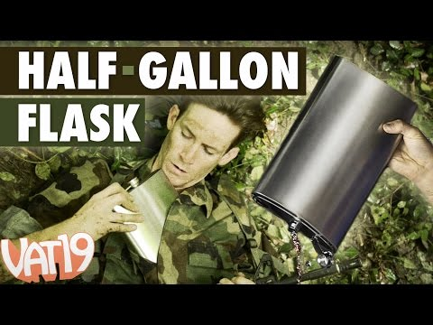 Flask holds twice as much as a Big Gulp!