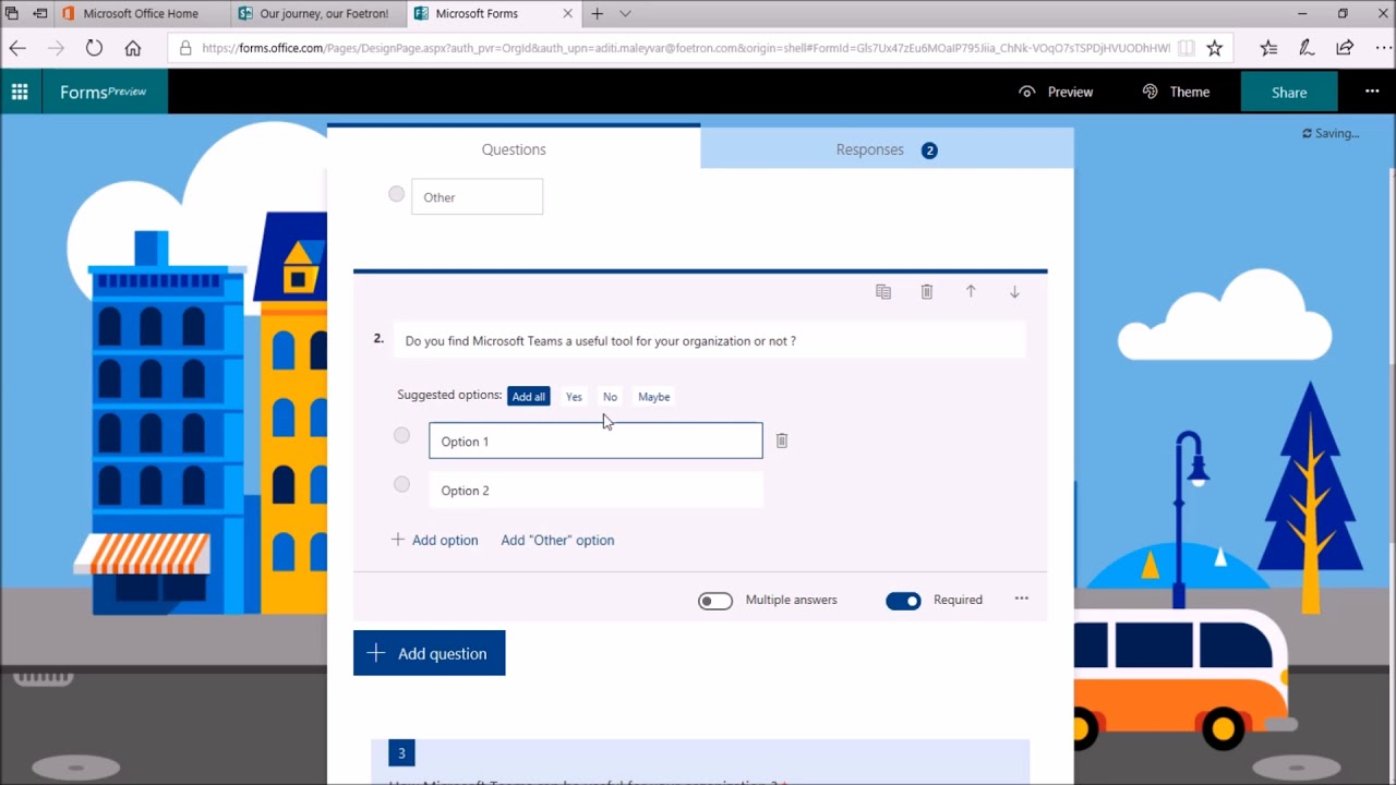 What Is Branching Feature In Microsoft Forms
