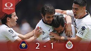 Resumen Pumas 2 - 1 Chivas | Clausura 2019 - Jornada 12 | Televisa Deportes*