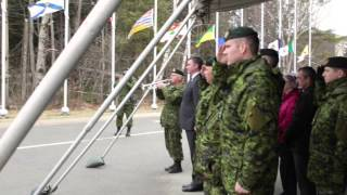 MLA Brian Macdonald Attends National Day of Mourning 2015 at CFB Gagetown
