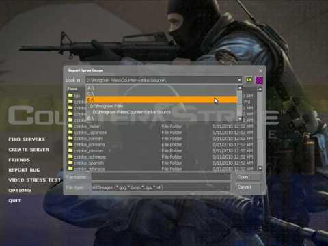 How To Import A Custom Spray In Counter Strike: Source