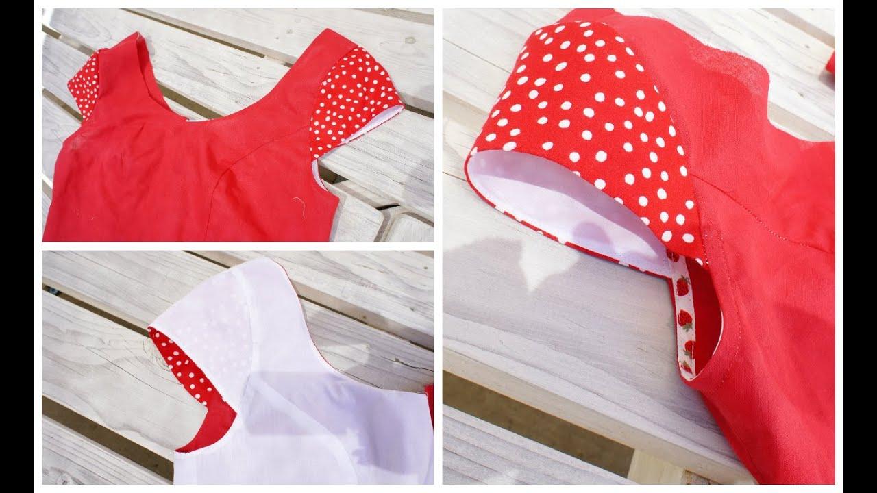 13d86611b How to sew a Cap Sleeve / Insert a Sleeve - YouTube