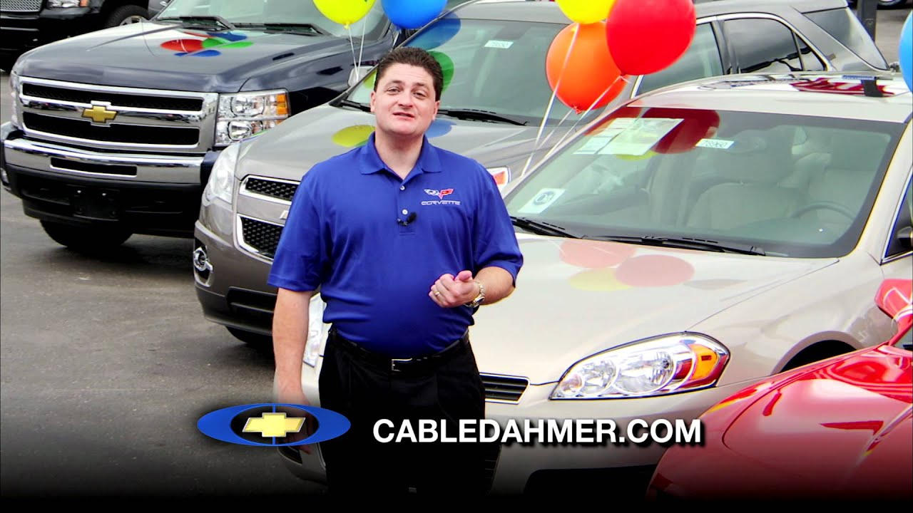 Cable Dahmer Chevrolet Back to School Savings