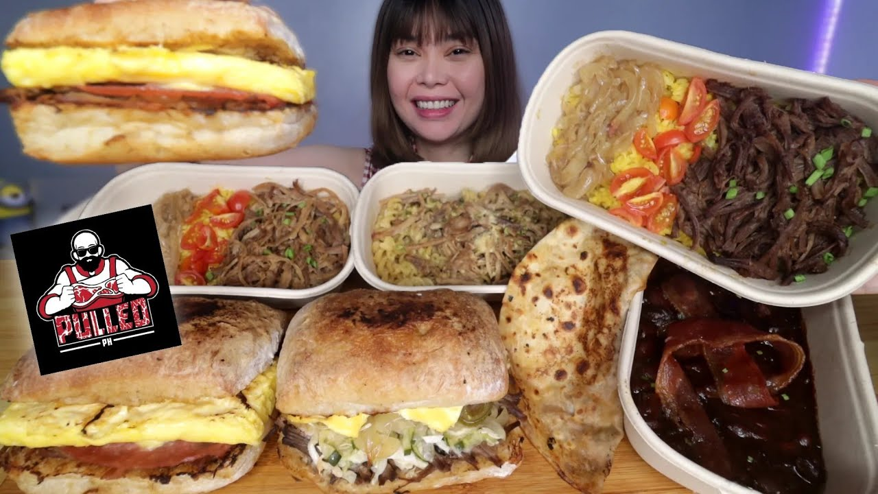 PULLED PORK SANDWICH, PULLED PORK RICE, PULLED PORK PASTA and BIRRIA TACOS MUKBANG
