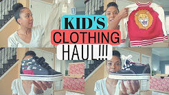 KIDS CLOTHING & SHOE HAUL | LITTLE BOYS | 2017