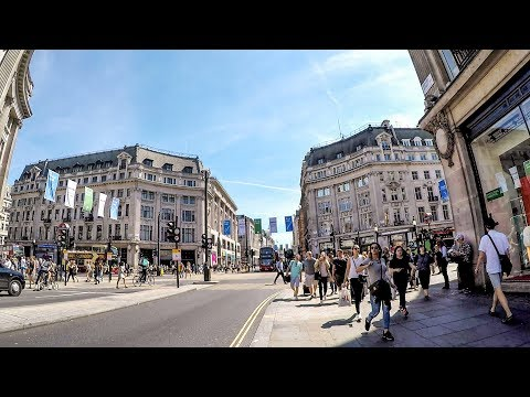 London Walk on Oxford Street from Marble Arch to Tottenham Court Road