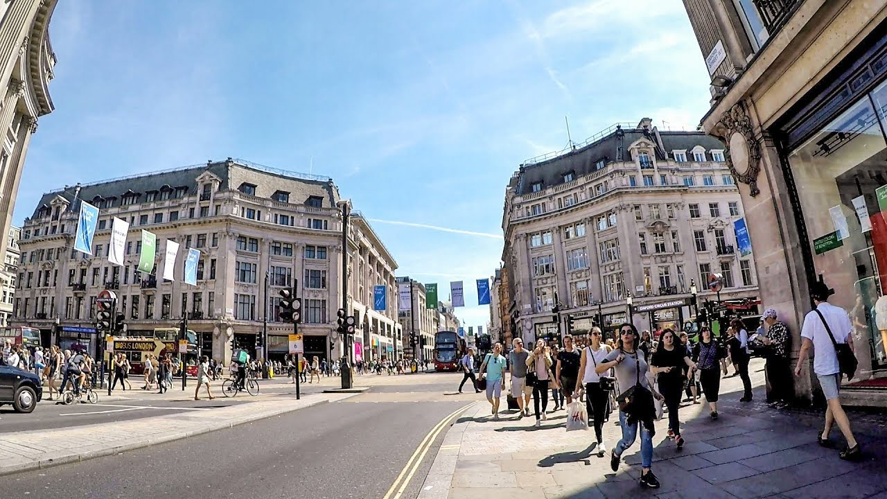 London Walk On Oxford Street From Marble Arch To Totten