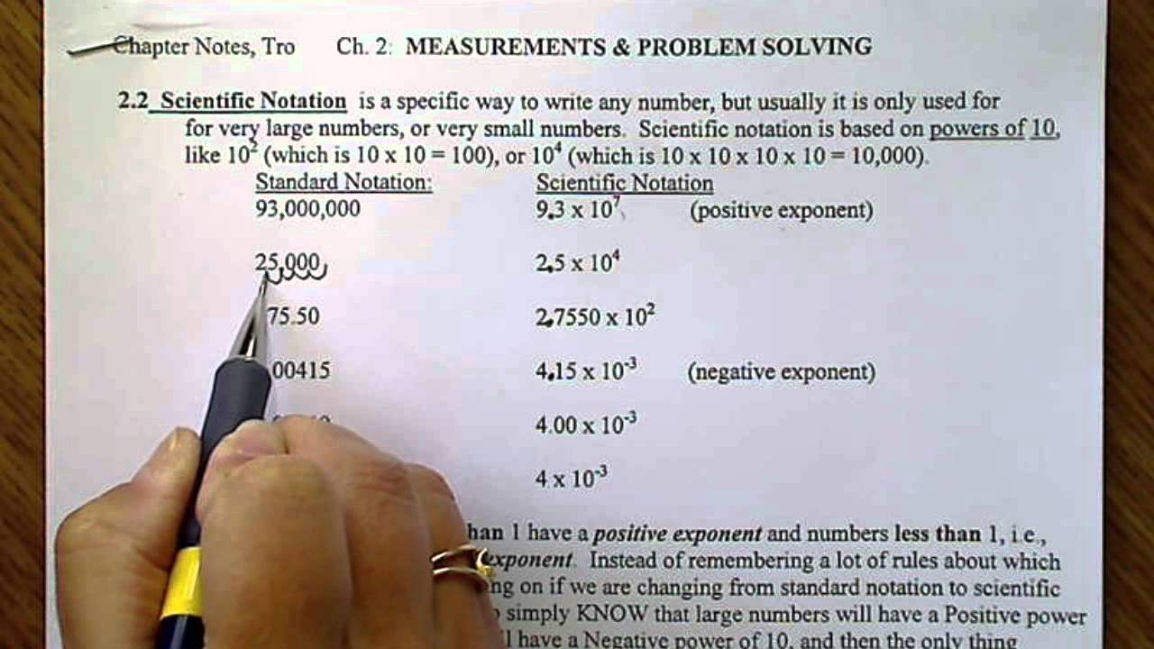 Worksheet Working With Scientific Notation scientific notation positive or negative exponents youtube exponents