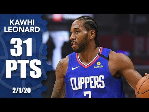 Kawhi Leonard drops 31 points in Timberwolves vs. Clippers | 2019-20 NBA Highlights
